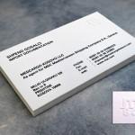 επαγγελματικές κάρτες, Κάρτες MSC σε ειδικό χαρτί & σήμα γκοφρέ