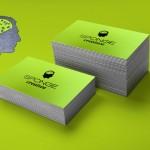 επαγγελματικές κάρτες, Κάρτες SPONGE σε ειδικό χαρτί με μαύρη θερμοτυπία.
