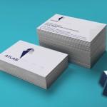 επαγγελματικές κάρτες, Κάρτες λαμινέιτ ATLAS SHIPYARDS με ασημοτυπία.