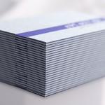 επαγγελματικές κάρτες, Κάρτες ΕΡΓΑΣΤΗΡΙ με μοναδικό κόψιμο, σόκορο, θερμοτυπία & βαθυτυπία.