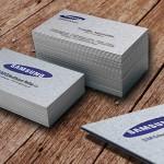 επαγγελματικές κάρτες, Κάρτες SMG healthcare hellas- SAMSUNG λαμιναριστές, χρώμα σόκορο, κοπτικό και λευκή θερμοτυπία.