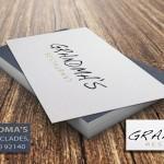 επαγγελματικές κάρτες, Κάρτες GRANDMA'S, με χρυσοτυπία.