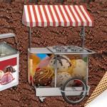 Κάλυψη ψυγείων και καρότσι παγωτού με αυτοκόλλητο DS MILKA