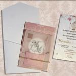 Προσκλητήριο γάμου, προσκλητήριο, χρυσοτυπία, λαμινέιτ, φάκελος
