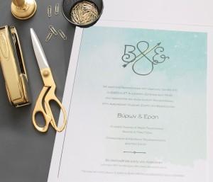 LOVE ME DO, προσκλητήριο γάμου, προσκλητήριο, χρυσοτυπία, λαμινέιτ, φάκελος