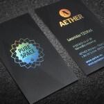 AETHER, PURE SPACE, Κάρτες, λαμινέιτ, Θερμοτυπία
